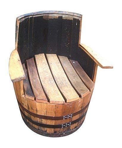 handgefertigt echt Eichenholz aufbereitet Whiskey Fass Sessel Holz Fass Möbel