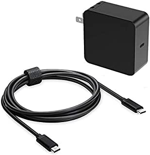 65W 45W USB C Laptop Adapter Charger Fit for HP EliteBook 840 G1 820 G1 HP Envy x360 HP Pavilion x2 HP Spectre x360 x2 Chromebook 11 G6 G7 EE 14 G5 HP Split x2 13 Type-C Power Supply Cord