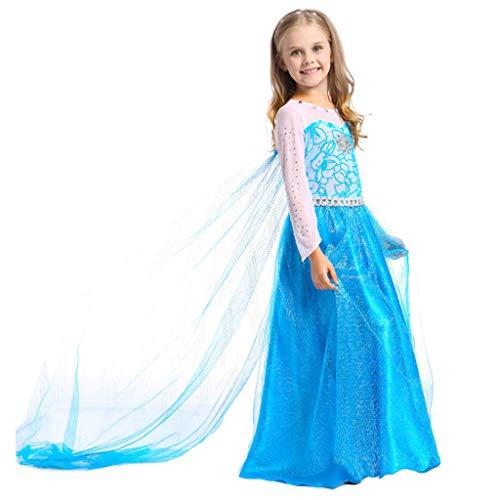 Morran Disfraz De Elsa Anna para Niñas, Disfraz De Elsa Disfraz De Princesa, para Fiesta De Disfraces De Cosplay, Bodas, Halloween