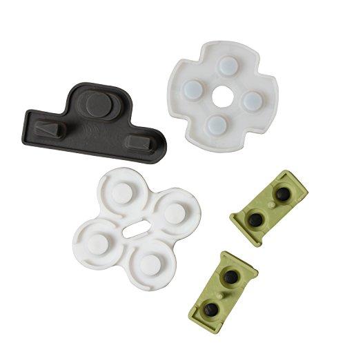 Timorn Pièces de Rechange Rubber Conductive Key Pad Buttons Kit de réparation pour Playstation 3 PS3 Controller (20 Ensembles)