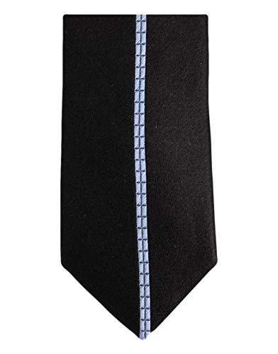Knightsbridge Neckwear Black/Blue Single Striped Silk Skinny cravate de
