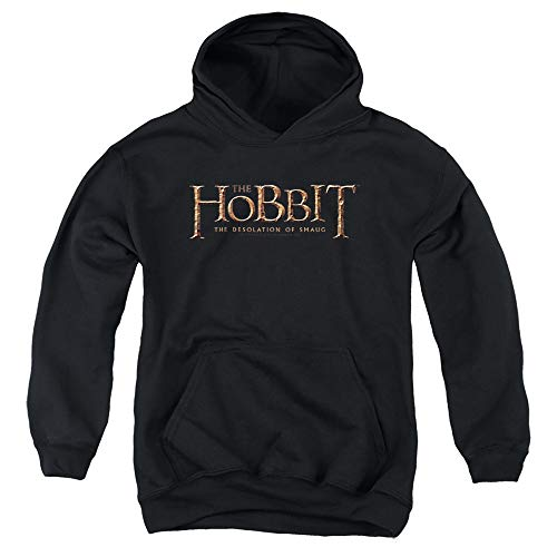 The Hobbit Logo Unisex Youth Pull-Over Hoodie, Black, X-Large