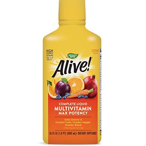 Nature's Way Alive! Multivitamin Citrus Flavor Liquid, Food-Based Blends and Antioxidants, 30.4 fl oz