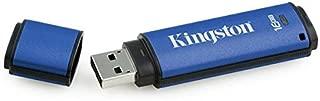 Kingston Digital 16GB Data Traveler AES Encrypted Vault Privacy 256Bit 3.0 USB Flash Drive with ESET AV (DTVP30AV/16GB)