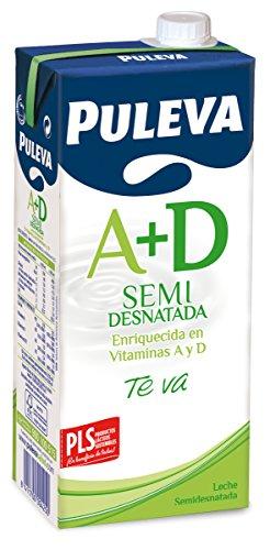 Puleva - Leche Vitaminas A + D Semidesnatada, 1 L
