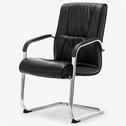 XLHJFDI Silla de Oficina Yale Silla de Oficina, Silla de Cuero en Forma de Oficina Muebles de Ordenador for sillas de Inicio del pie Silla de conferencias Silla de Oficina Sala de Entrenamiento Negro
