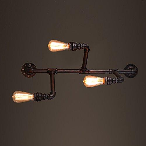 ZWL Lampe murale à tuyaux d'eau, Loft Rétro Industrie Fer E27 Salle de séjour Restaurant Eclairage Clubhouse Bar Cafés Internet Escaliers Lampes de l'allée Décoration murale Lampes 29 * 74CM mode ( taille : 29*74CM )