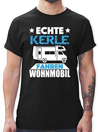Andere Fahrzeuge - Echte Kerle Fahren Wohnmobil - S - Schwarz - echte Kerle Fahren wohnmobil - L190 - Tshirt Herren und Männer T-Shirts