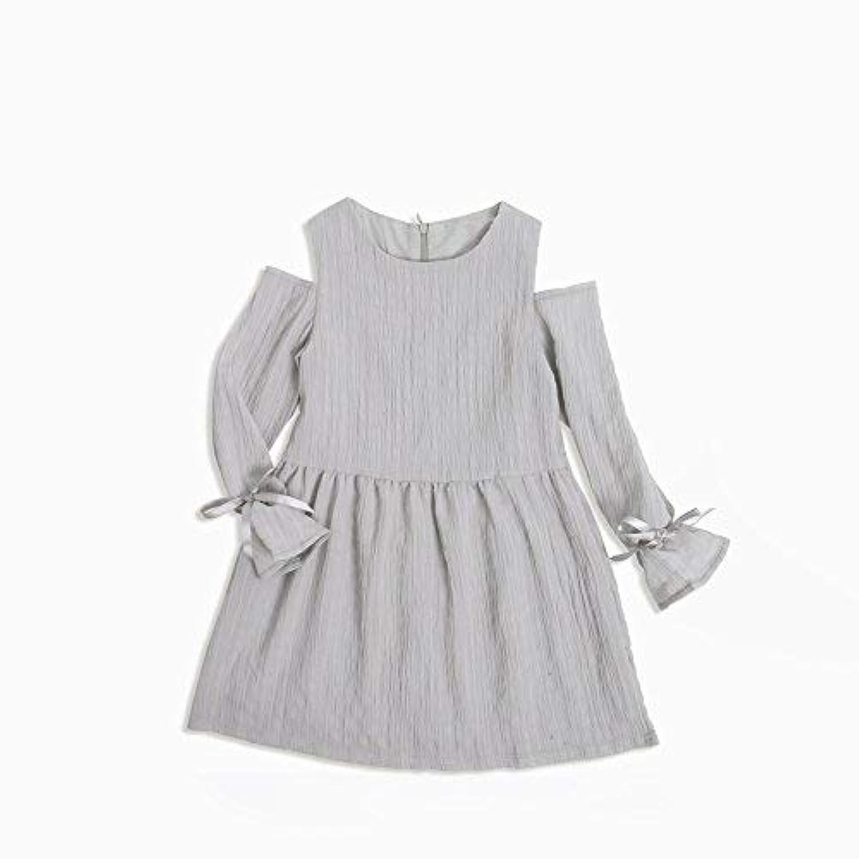 qighaima 女の子 ストラップレス お姫様 ワンピース パーティー 結婚式 女の子 ドレス ファッション 子供 衣類 弓3-4歳/ 110cm|KDW7122