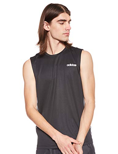 adidas D2M SL 3S Camiseta sin Mangas, Hombre, Black, M