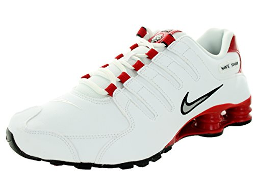 Nike Shox NZ Mens - White Silver Red - 44 EU
