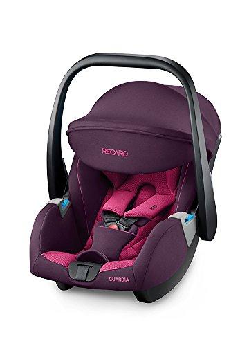 Recaro Kids, siège-auto naissance Guardia, Siège Auto Léger pour Enfant, seulement 4,1 Kg, Poignée Ergonomique et Innovante, avec Pare Soleil Rabattable UV 40+, (0-13Kg), Power Berry