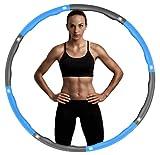 Hula Hoop, iAmotus Hula Hoop Fitness Adelgazante 8 Secciones Extraíbles Diámetro Ajustable con Cuerda de Saltar Hula Hoop para Deportes & Ejercicios Adecuado para Damas, Hombres, Niños (Azul grisáceo)