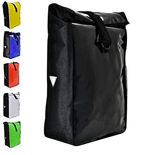 Büchel Fahrradtasche aus Tarpaulin, Besfestigung am Gepäckträger