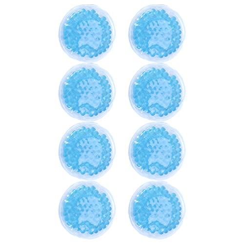 TOYANDONA 8 Unidades Reutilizables Paquete Frío Paquete de Hielo Flexible con Cuentas de Gel para Los Atletas Alivio del Dolor para La Artritis Hinchazón Lesiones Deportivas