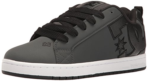 DC Men's Court Graffik SE Skate Shoe,Grey/White,12 D US