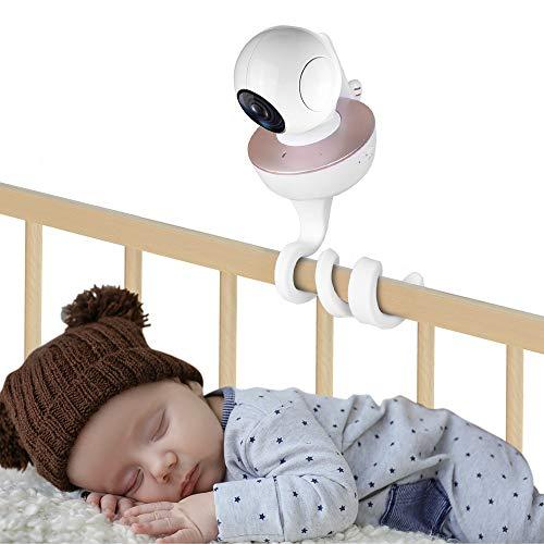 inRobert Universal Baby Monitor Soporte de cámara para montaje en pared 360 Soporte de cámara flexible sin perforación Compatible con la mayoría de los monitores para bebés y teléfonos (blanco