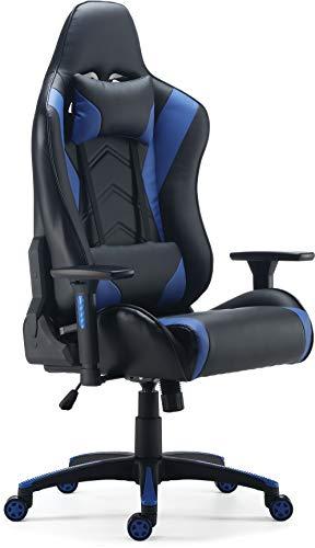 STAPLES 24326200 Vartan Gaming Chair Blue blue chair gaming