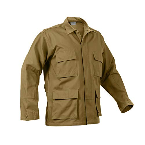 Rothco Solid BDU (Battle Dress Uniform) Military Shirts, Coyote Brown, M