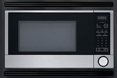 24' Master Chef Built In Microwave Oven for Home & RV, Black/Stainless Steel. 2 Year Manufacturer's Warranty Included.
