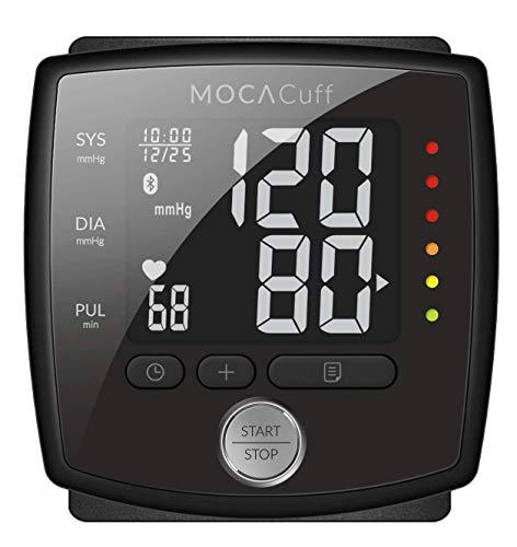 Mocacare Misuratore di Pressione da Polso Bluetooth, Mocacuff wireless Bluetooth collegato a pressione sanguigna del polso Monitior (iOS/Android)