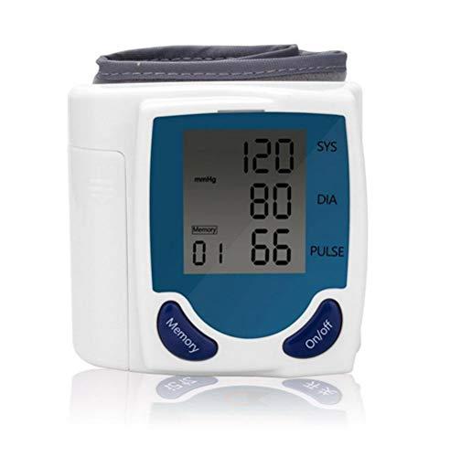 Handgelenk-Blutdruckmessgerät, Speicher, Intelligente LCD-Anzeige Messen Sie automatisch diastolische Systole