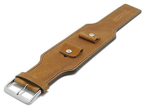 Meyhofer Uhrband Windhoek 20-22-24mm Hellbraun Leder Antik-Look braune Naht MyFcslc373/20-24mm/hellbraun/brN