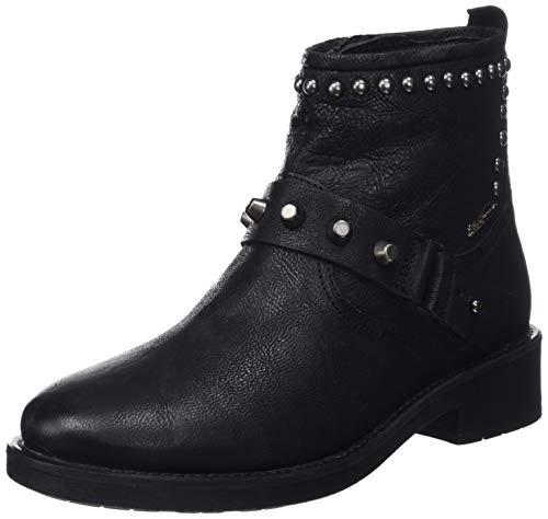 Pepe Jeans London Damen Maddox Ring Stiefeletten, Schwarz (Black 999), 36 EU