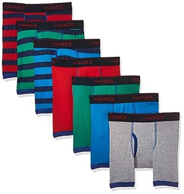 Hanes Boys' Comfort Flex Fit Sport Ringer Boxer Briefs, Assorted, Small from Hanes Boys 8-20 Underwear