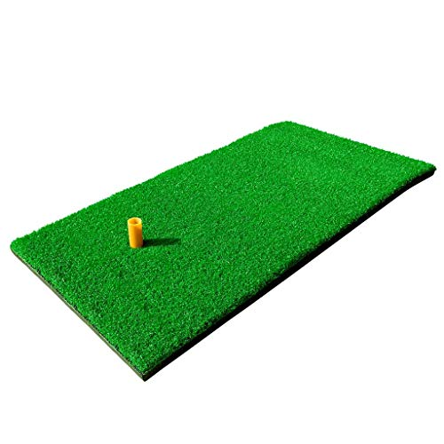 "RELILAC Golf Hitting Mat - 12""x24"" Residential Practice Grass Mat with Rubber Tee Holder - Premium Turf Mat Ideal for Indoor & Outdoor"