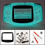 Color: Glow in The Dark Whole Set: Housing Case + Plastic Lens + Buttons +Sticker+Screws+2 x Screwdrivers + Rubber Pads. For Nintendo Gameboy Advance only New Full Parts Replacement Housing Shell Case For Nintendo Game Boy Advance Replace Your Damage...