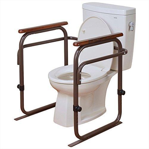 ビーワーススタイル?トイレ用アーム (6段階高さ調節可能) ブラウン(トイレ用手すり)