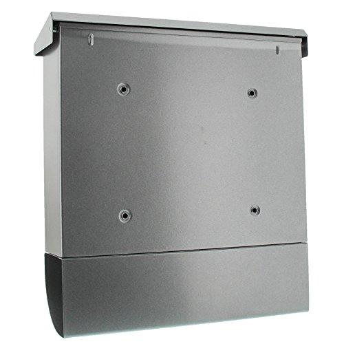 BURG-WÄCHTER Set Vario 86720 Si Briefkasten-Set mit Zeitungsbox A4 Einwurf-Format, Verzinkter Stahl, Set Vario Si, Silber - 2