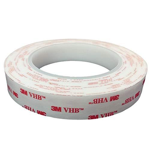 3M VHB 4950 doppelseitiges Hochleistungsklebeband - Industrie Tape im wiederverschliessbaren ZIP-Beutel - 20mm x 5 Meter. Für dauerhaft starke Verbindungen im Innen- und Außenbereich.