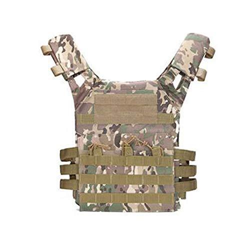 TREA2SURE JPC Chaleco táctico para hombre – chaleco ultraligero transpirable de entrenamiento de combate chaleco ajustable para juegos de caza al aire libre