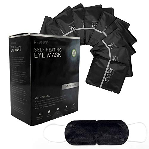 Best Self Warming Eye Masks | 10 Pack | For Dry Eye, Blepharitis, Puffy Eyes, MGD, Stye Treatment Relief | Reposé Self Heating Moisturizing Eye Masks