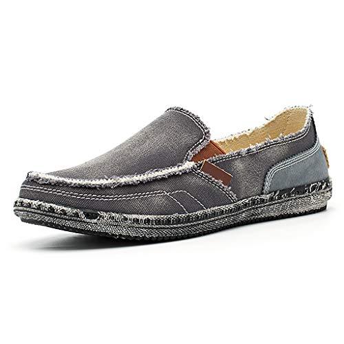 JXILY Hombres Zapatos De Lona Zapatos Hombres Zapatos Hombres con Los Neumáticos...