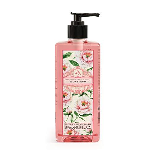 Aromas Artesanales De Antigua Floral Peony Plum Hand Wash - 500ml | Luxury Hand Wash to Help Banish Day-To-Day Stress | Hand Soap, Skin Care, Hand Wash