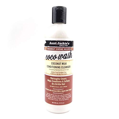 Aunt Jackie's COCONUT MILK CONDITING CLEANSER Coco Wash 12oz