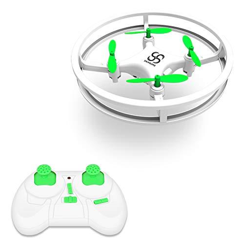 SKYKING F007 Mini Drone, Portable RC Quadcopter for Kids Beginner, 3 Speed Drone with Circular Frame/Hovering/3D Flips/One Key Return/Headless Mode/LED Light, Great Gift/Toys for Boys & Girls