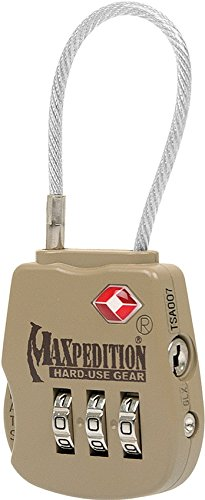 Maxpedition Gear Tactical Luggage Lock, Khaki