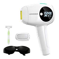 LOVEDOCK hair removal device applies clinically proven IPL (Intense Pulsed Light) hair removal technology