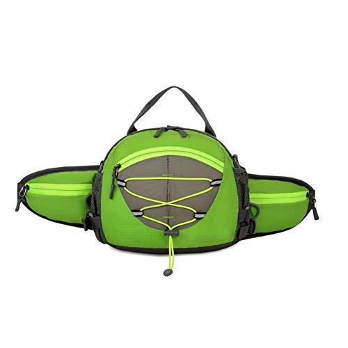 JTKDL Bolsa de cinturón de Nylon Duradera con Gran Capacidad para al Aire Libre, Viajar, Acampar, Compras (Color : Green)