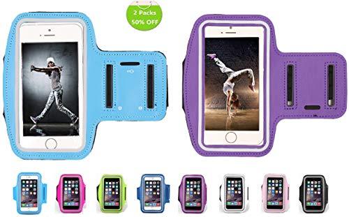 HUIDALI Brazalete para Correr Compatible con iPhone 8/7/6/X/XR/XS, Samsung Galaxy S9/S8/S7/Plus, LG, Google y más. Funda para Corredores, Ejercicios y Entrenamientos de Gimnasio