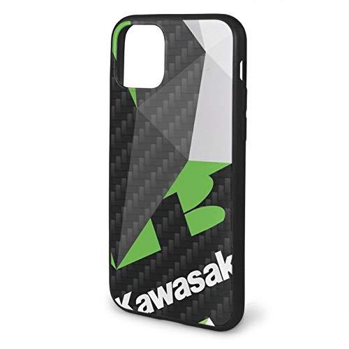 hotrilicoc Compatibile con iPhone 12/12 PRO Max 12 Mini 11 PRO Max SE X/XS Max XR 8 7 6 6s Plus Custodie Engine Tumblr Logo Fractals Kawasaki Nero Custodie per Telefoni Cover