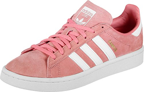 adidas Damen Campus Sneaker, Pink rosa/weiß, 37 1/3 EU