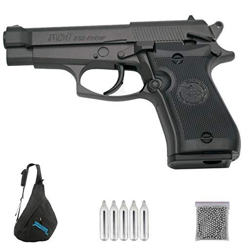 WGM84 Pistola - Pack WG M84 + Maletín de Neopreno + 500 Bolas BB's + 5 Cargas CO2 - Potencia <3.5 Julios