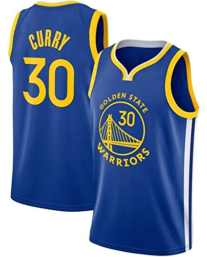 WSWZ Camiseta De La NBA para Hombre, Golden State Warriors 30# Stephen Curry Camiseta De Baloncesto NBA Sportswear Camiseta Unisex Cómoda Camiseta Swingman,B,S(165~170CM/50~65KG)
