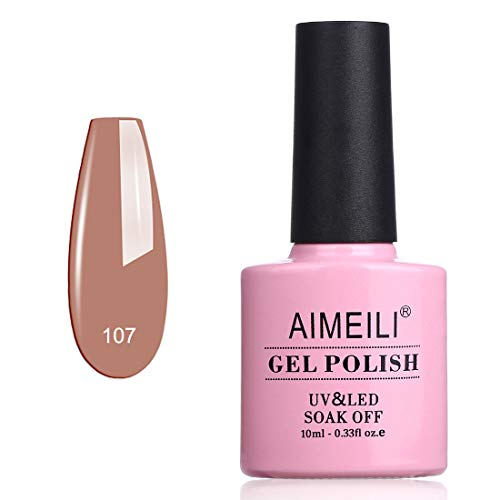 AIMEILI Soak Off UV LED Vernis à Ongles Gel Semi-Permanent - Stella Anethum (107) 10ml