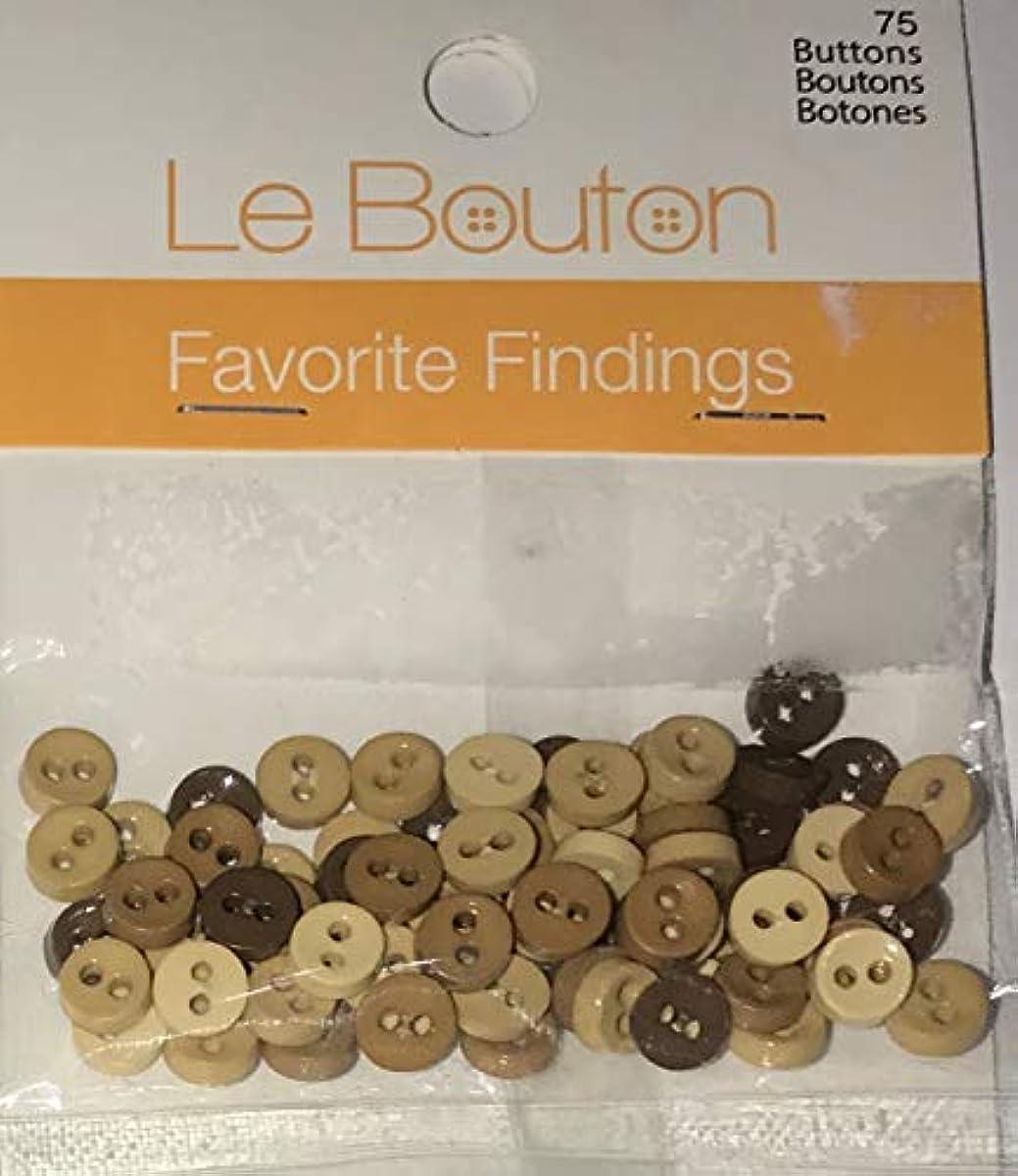 Le Bouton Natural Colors Buttons, 75 Count